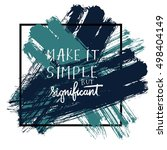 make it simple but significant. ... | Shutterstock .eps vector #498404149