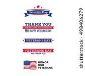 collection of various veterans... | Shutterstock .eps vector #498406279