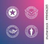 collection of various veterans... | Shutterstock .eps vector #498406285
