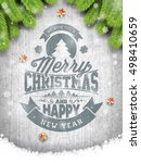 vector merry christmas holiday... | Shutterstock .eps vector #498410659