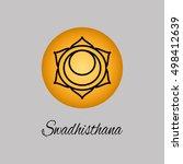 swadhisthana.sacral chakra. the ... | Shutterstock .eps vector #498412639