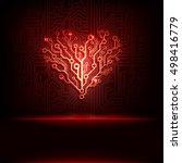 vector circuit board background ... | Shutterstock .eps vector #498416779
