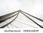 fragment of a cable bridge... | Shutterstock . vector #498424849