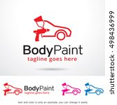 car body paint logo template... | Shutterstock .eps vector #498436999