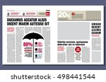 graphical design newspaper... | Shutterstock .eps vector #498441544