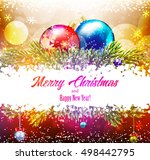 christmas shiny background.... | Shutterstock . vector #498442795