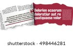 rolled ribbon of the newspaper  ... | Shutterstock .eps vector #498446281
