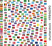 collection of world flags on... | Shutterstock . vector #49846090