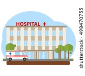 the building of the hospital ... | Shutterstock .eps vector #498470755