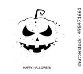 halloween layout  design cover... | Shutterstock . vector #498471661