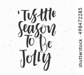 merry christmas. new year... | Shutterstock .eps vector #498472285
