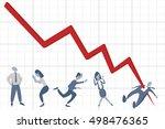 productivity chart killing man. | Shutterstock .eps vector #498476365