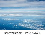 view from a plane window to... | Shutterstock . vector #498476671