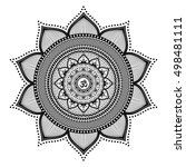 mandala  a vector black and... | Shutterstock .eps vector #498481111