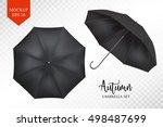 vector parasol rain umbrella ... | Shutterstock .eps vector #498487699