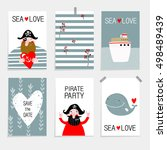 vector set illustration... | Shutterstock .eps vector #498489439