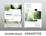 brochure layout template flyer... | Shutterstock .eps vector #498490705