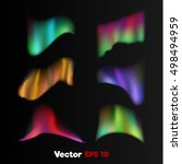 vector realistic 3d colored... | Shutterstock .eps vector #498494959