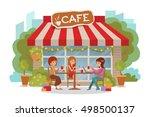 three beautiful friends women...   Shutterstock .eps vector #498500137