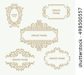 set vector design element... | Shutterstock .eps vector #498500557