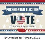presidential election poster... | Shutterstock .eps vector #498502111