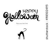 Happy Halloween Abstract Ink...