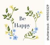 floral graphic design. flower...   Shutterstock .eps vector #498503329