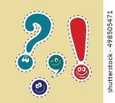set of funny smiley punctuation | Shutterstock .eps vector #498505471