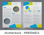 brochure template. business... | Shutterstock .eps vector #498506821