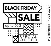 black friday sale and special... | Shutterstock .eps vector #498511819