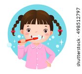 vector illustration of cute... | Shutterstock .eps vector #498512797