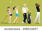 group golfers vector isolated... | Shutterstock .eps vector #498514057