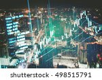 close up of finance business... | Shutterstock . vector #498515791
