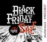 black friday typography. retro... | Shutterstock .eps vector #498523837