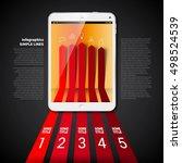 business infographics origami... | Shutterstock .eps vector #498524539
