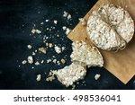 round cereal crispbread tied... | Shutterstock . vector #498536041