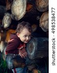 little boy and firewood | Shutterstock . vector #498538477