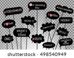 props for photos on weddings... | Shutterstock .eps vector #498540949