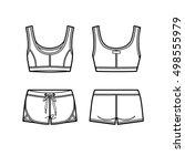 blank women's sports suit in... | Shutterstock .eps vector #498555979