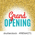 grand opening ceremony... | Shutterstock . vector #498564271