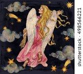 zodiac sign   virgo. ... | Shutterstock . vector #498566221