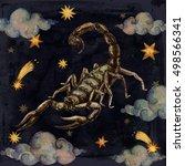zodiac sign   scorpio....   Shutterstock . vector #498566341