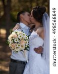 kiss of bride and groom | Shutterstock . vector #498568849