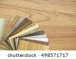 samples of laminate and vinyl... | Shutterstock . vector #498571717