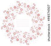 cute round frame with pink... | Shutterstock .eps vector #498574507