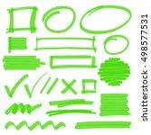 green marker highlight design... | Shutterstock . vector #498577531