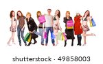 group shopping | Shutterstock . vector #49858003