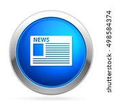 news  icon   Shutterstock .eps vector #498584374
