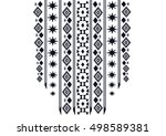 geometric ethnic pattern neck... | Shutterstock .eps vector #498589381