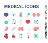 medical icons set. vector... | Shutterstock .eps vector #498593851